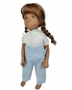 "Vintage Sasha 16"" ""Dungarees"" Denim Redhead England Doll W/ WIG"