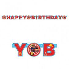 Sam le Pompier Happy Birthday Bannière de Lettres Décoration pour Fête