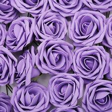 100x Künstliche Rosen Blume Rosenköpfe Kunstblumen Blumenstrauß Hochzeit Deko DE