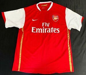 Maillot Arsenal London 2006-2007 jersey Nike vintage camiseta football taille XL