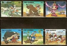 Mint Disney The Gambia cartoons stamps (Mnh)