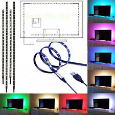 USB LED Strip TV Backlight Bias HDTV PC Ambient Background Lighting w/ Dimmer