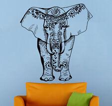 Indian Elephant Wall Sticker Asia Animals Vinyl Decal Atr Home Wall Decor (14ie)