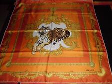 Versace Woman scarf Foulard Silk Print Tiger