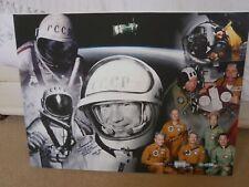 Apollo ASTP Stafford Brand Alexei Leonov hand signed framed canvas lifetime COA