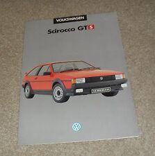 Volkswagen VW Scirocco GTS Special Edition Brochure 1985