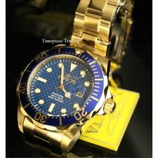 Invicta Pro Diver Quartz Blue Dial 18K Gold Ion-Plated Stainless Men's Watch