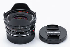 (68) NEW Voigtlander Super Wide-Heliar 15/4.5 Asph. in Leica BM w/caps & hood
