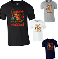 Gingerbread Man T-Shirt,Gingers Are For Life Not Just for Christmas Xmas Gifts