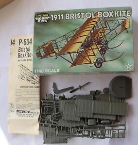model aircraft kits 1/48 Life-LIke Hobby KIts 1911 Bristol BoxKite