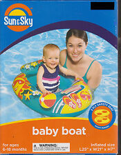 Sun & Sky Baby Toddler Boat Inflatable Safety Seat Float Ergonomic Backrest Pool