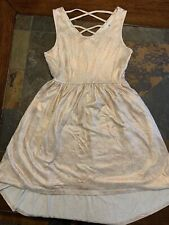 Girls Size Large Rose Gold Dress