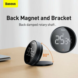 Baseus Magnetic Digital Timer Pro Kitchen Rotation Countdown Cooking Alarm Clock