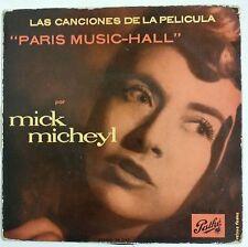 """Mick Micheyl Paris Music-Hall BSO Single 7"""" edición original española 1957"""