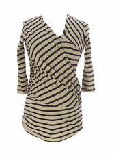 9FASHION Maternity Women's Gosella II Multi Striped Blouse Sz S $72 NEW
