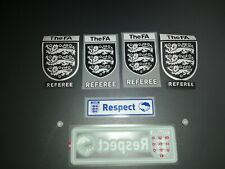 FAOMA FA REFEREE IRON ON/SEW ON BADGE  RESPECT SET