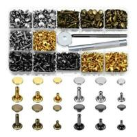 480Pcs Rivets Double Cap Tool Kit Metal Studs Sets For Leather DIY Craft V0C5