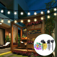 Solar Powered 30 LED String Light Garden Path Yard Decor Lamp Outdoor Waterproof