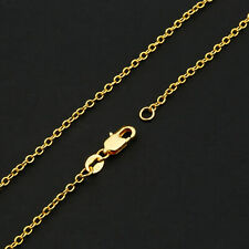 Wholesale 10PCS 16-30inch Wholesale Jewelry 18K GOLD FILL ROLO Chain Necklaces
