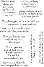 Lindsay Mason Thoughtful Messages Sentiments Verse A6 Set Clear Stamps FREE P&P
