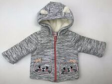 Little Lass Kitty Kitten Cat Sweatshirt Hoodie Front Zip Ears Baby Girl 6/9 Mo