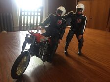 BIG JIM TOY Rugged Rider Motorcycle Action Figure Pair Mattel
