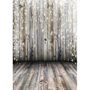 AOFOTO 7x5ft Wooden Plank Backdrop Brown Wood Board Texture Village Door Background for Photography Shabby Countryside Hardwood House Wall Kids Baby Shower Party Celebration Photo Shoot Vinyl