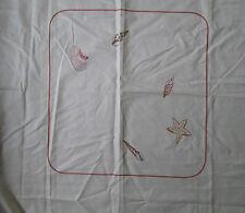 Sublime nappe 180 x 180 cm MANRIDAL France-Alsace   Satin 100 % coton neuve