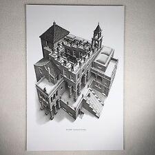 "M C Escher Print Framable Lithograph Ascending Descending Approx 9"" X11"" View"