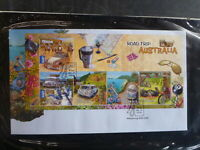 AUSTRALIA 2012 ROAD TRIP AUSTRALIA 5 STAMP MINI SHEET FDC FIRST DAY COVER
