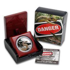 2010 1 oz Proof Silver Australia Eastern Brown Snake- Deadly & Dangerous