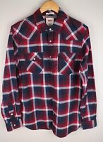 Levi Strauss & Co Men Casual Shirt Standard Fit Check Red Blue Cotton size M