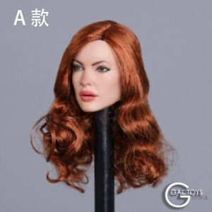 "GACTOYS 1/6 European Female Head Sculpt Model Curly Hair GC031 Fit 12"" Figure"