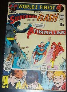 WORLD'S FINEST 199 FN+ 6.5, Classic Flash Vs Superman Race!  N Adams Bag&Bd 1970
