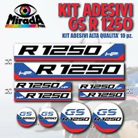 KIT ADESIVI STICKERS AUTOCOLLANT BMW GS R 1250 2 ADVENTURE MOTO HP RALLY NOVITA'