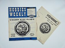 Hobbies Weekly with Galleon Wall Plaque Pattern February 11th  1959 n. 3302