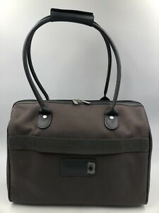 Delsey Carry On Weekender Overnight Silver Gray Travel Duffle Weekend Bag