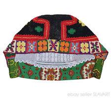 Slovak Rusyn folk costume handmade cap Torysky ethnic crochet lace knit bonnet