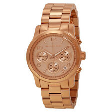 MICHAEL KORS Ladies Watch MK5128 Rose Goldtone Steel Bracelet Watch Retail$250