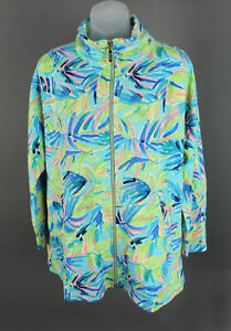 Lilly Pulitzer Luxletic NWT Blue Green Serenity Now Deedee Swing Jacket Size M
