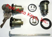 New PONTIAC GM OEM Black Doors/Trunk Lock Key Cylinder Set With Keys To Match