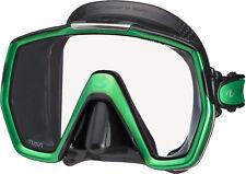 Tusa Freedom HD Mask Scuba Diving FreeDiving Snorkeling Black Green M-1001QB-EG