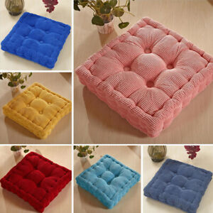 Chunky Square Cushion Chair Seat Pads Booster Dining Kitchen Office Garden Floor