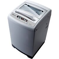 Magic Chef Compact 1.6 cu. ft. Top Load Washer in White with Stainless Steel Tub