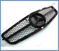 Fit 08+ UP M-BENZ W204 C300 C250 C350 Gloss Jet Black C63 Type Mesh Front Grille