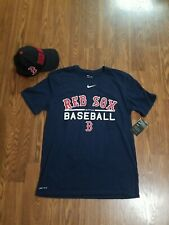 Baseball's Boston Red Sox Tee Shirt and Hat - Blue Combo For Women Size L (Mlb)