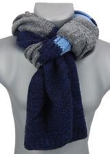 Bufanda Hombre Azul Gris Blanco De Ella Jonte otoño invierno punto
