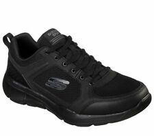 Skechers Sport Men's Shoes Black Memory Foam Comfort Casual Train Athletic 52940