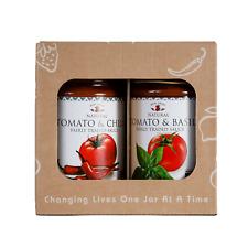 Meru Herbs Savoury Duo Gift Set - Tomato and Basil/Tomato and Chilli - 2 x 295g