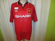 "Manchester United Original umbro Meister Trikot 1994-1996 ""SHARP"" Gr.L TOP"